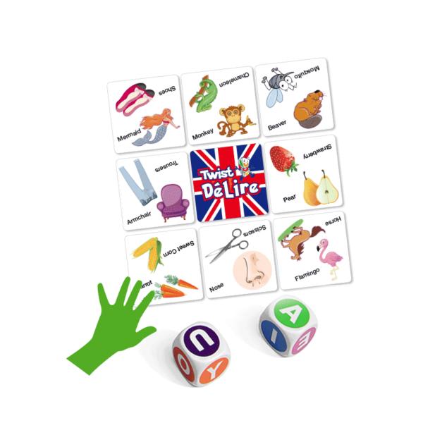 jeu d'anglais Twist Délire cartes