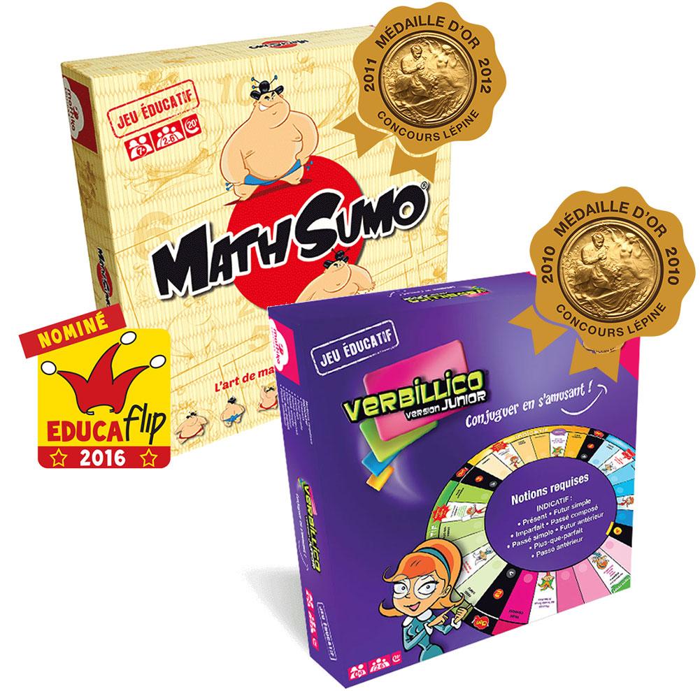Pack jeux éducatifs conjugaison + multiplication